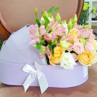 Aranjament In Cutie Landou Ar265 Florarie Online Timisoara