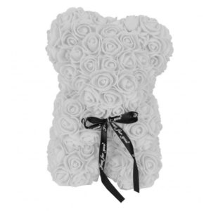 Urs trandafiri spuma alb  25 cm